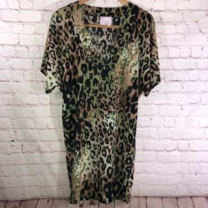 Leopard Print Coverup/Tunic By Romeo & Juliet